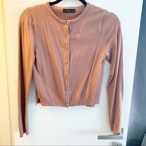 Zara cropped cardigan with button detail